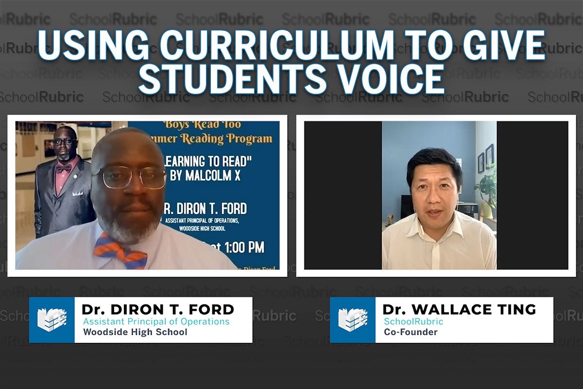 """""""Using Curriculum to Give Students Voice"""" – Dr. Diron Ford 